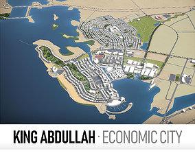King Abdullah Economic City 3D model