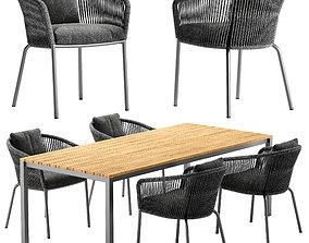 3D model Solpuri Loop chair Classic Alu table set