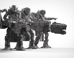 3D printable model Battle Armor Chaingun minigun Infantry