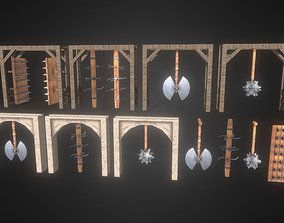 3D asset Dungeon traps Kit