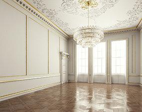 hall Classic Interior Room 3D