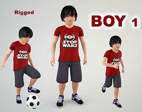 3D model animated Boy 1