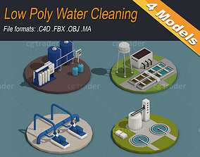 3D model Low Poly Water Cleaning
