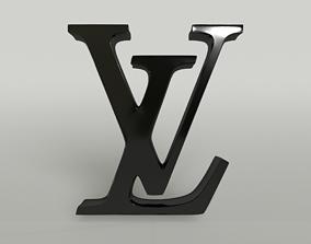Louis Vuitton Logo 001 3D model
