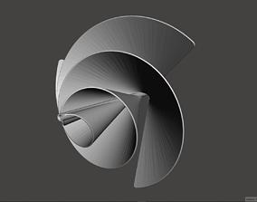 Archimedes Spiral Liam F1 Wind Turbine 3D Print Model