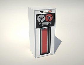 3D asset Vintage Magnetic Tape Unit - With Tape