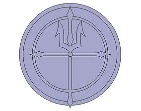 3D printable model Poseidons Emblem Saint Seiya