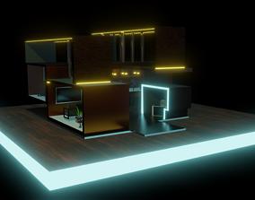 3d 3D asset game-ready modern house