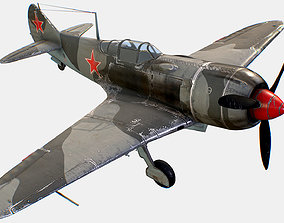 3D asset Russian Soviet fighter aircraft Lavochkin La-7