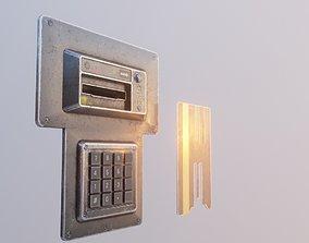 3D model Door electric lock keypad and card reader