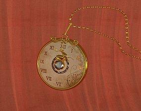 3D model Decorative medallion Pocket watch Deer