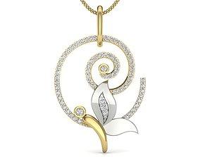 engagement Diamond Pendant For Ladies 3D print model