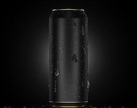 vray Beverage Can With Water Droplets 500ml 3D model