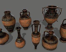 vase set 3D model realtime