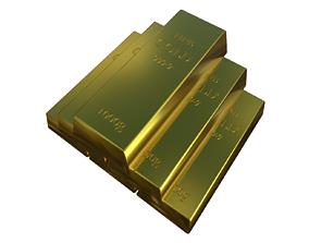 silver Gold bar 3D asset realtime
