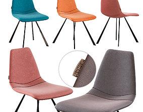 3D Dutchbone Franky Velvet chair