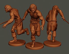 3D print model Male Barbarian 2HSword
