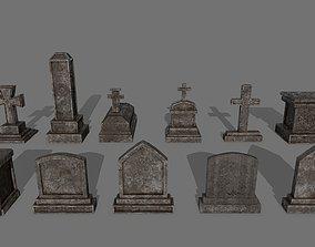 3D model Tombstone set 1
