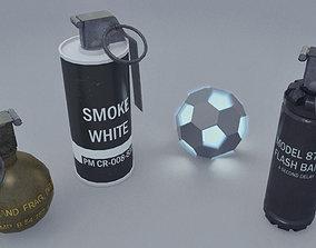 3D asset Realistic Grenades Pack