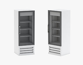 3D model Display Refrigerator with Swing Glass Door