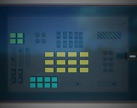 3D asset low-poly Control Panel