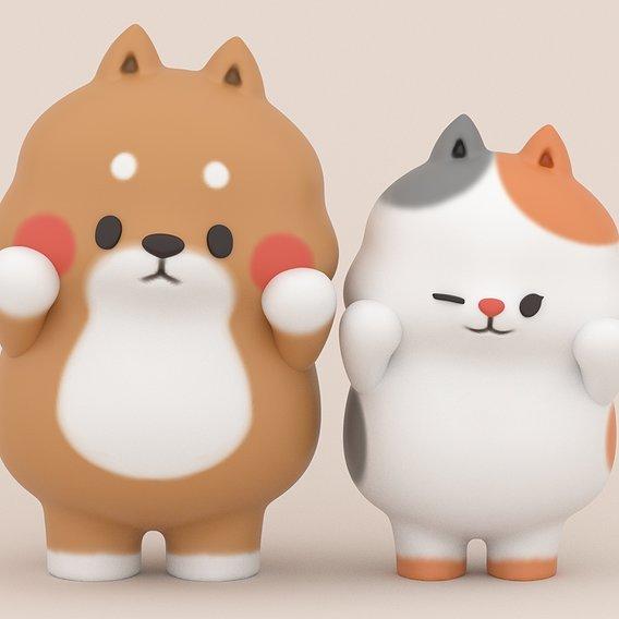 Yuta and Bella - Tonton Friends Fan Art for 3D Printing