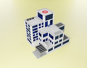 3D isometric low poly building realtime