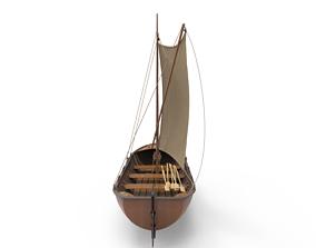 3D Sailboat wooden