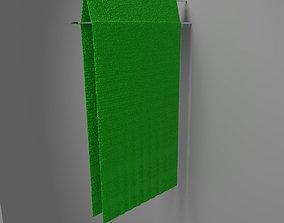 Towel hung 2 3D