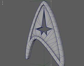 Badge of command from Star Trek 3D print model