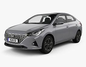 Hyundai Verna sedan 2020 3D