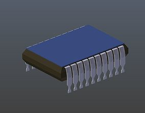 Low poly Chip 3D model