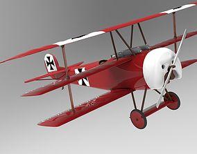 3D model Fokker Dr I triplane