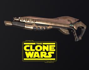 3D model ZYGERRIAN BLASTER STAR WARS CLONE WARS