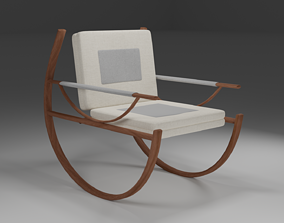 Rocking Chair 3D asset game-ready lounge