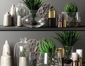 3D leaf decorative set 03