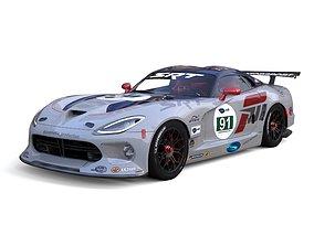 3D Dodge Racing Car