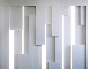 Wall Panel Set 89 3D model