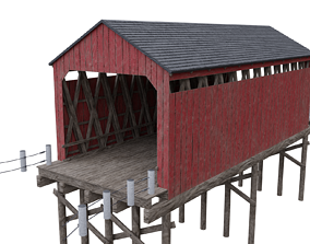 3D asset Wood bridge 2