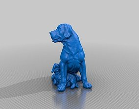 Labrador With Puppy Dog Statue 3D Scan