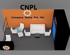 Stall Design 3D asset
