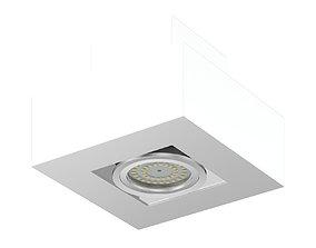 Rectangular Halogen Light 3D Model