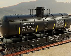 Railway freight Tank wagon 3D model