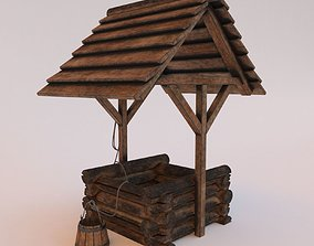 realtime Wooden well 3d model