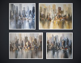 Painting frame of abstraction NY Low-poly 3D model