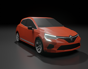 Renault Clio 2020 low poly 3D model VR / AR ready