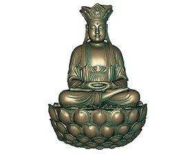 Buddha 3D print model 3D model realtime