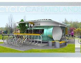 3D Cyclo Cafe Concept
