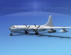 Boeing KB-50 Tanker Bare Metal 3D