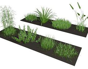 Herbage 3D grassland